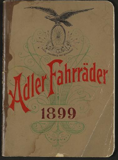 Adler Fahrräder Katalog  1899