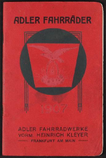 Adler Fahrräder Katalog  1907