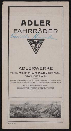 Adler Faltblatt 1924