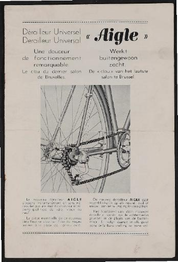 Aigle Derailleur Universel (F) Derailleur Universal (NL) Kettenschaltung Prospekt 1930er Jahre