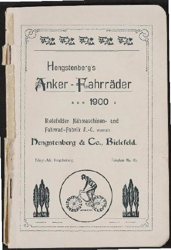Anker-Fahrräder, Katalog 1900