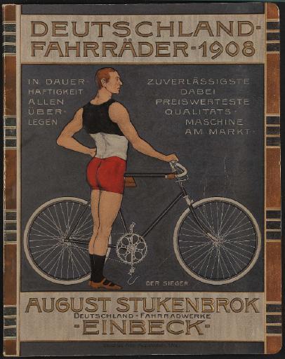 Deutschland Fahrräder August Stukenbrok Katalog 1908