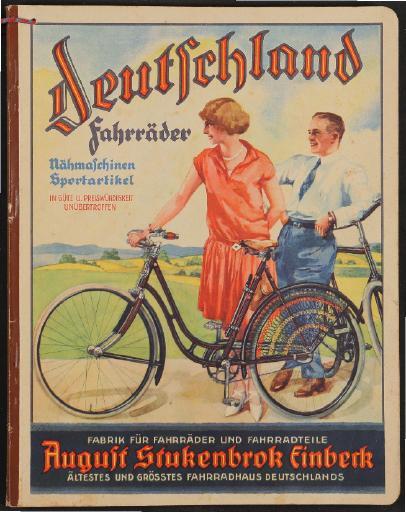 Deutschland Fahrräder August Stukenbrok Katalog 1929