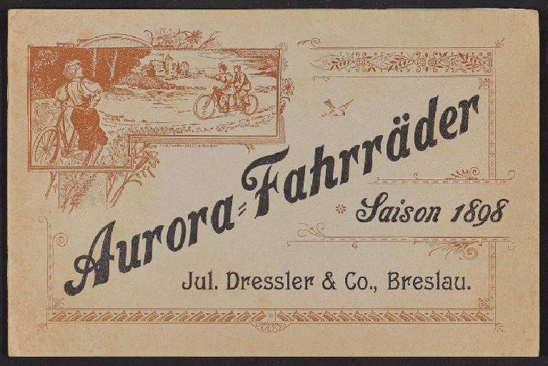 Aurora-Fahrräder, Katalog 1898
