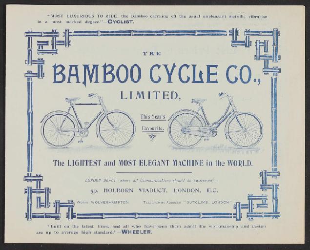 Bamboo Cycle Co. Limited, Werbeblatt 1897