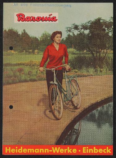 Baronia Heidemann-Werke EinbeckFaltblatt 1950er Jahre