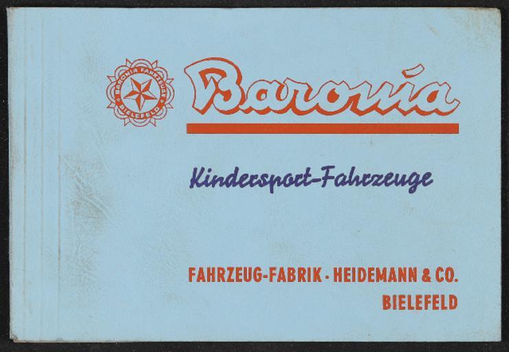 Baronia Kindersport-Fahrzeuge Katalog 1954