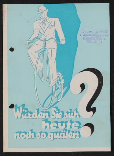 Bauer Leichtmetallrad Dural Faltblatt 1930er Jahre