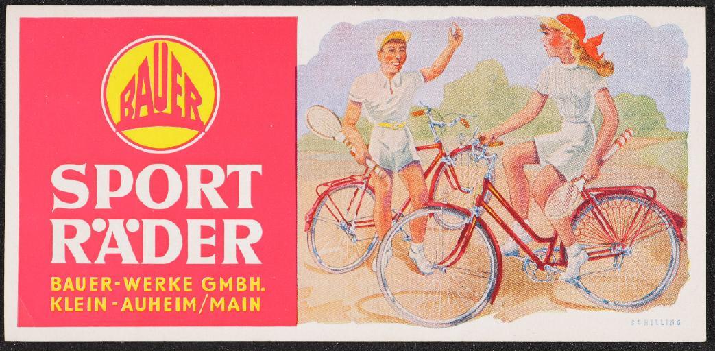 Bauer Sporträder Prospekt Preisliste 1953