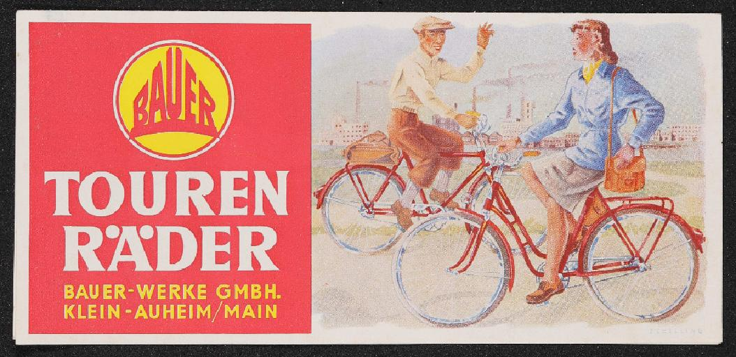 Bauer Tourenräder Prospekt Preisliste 1953