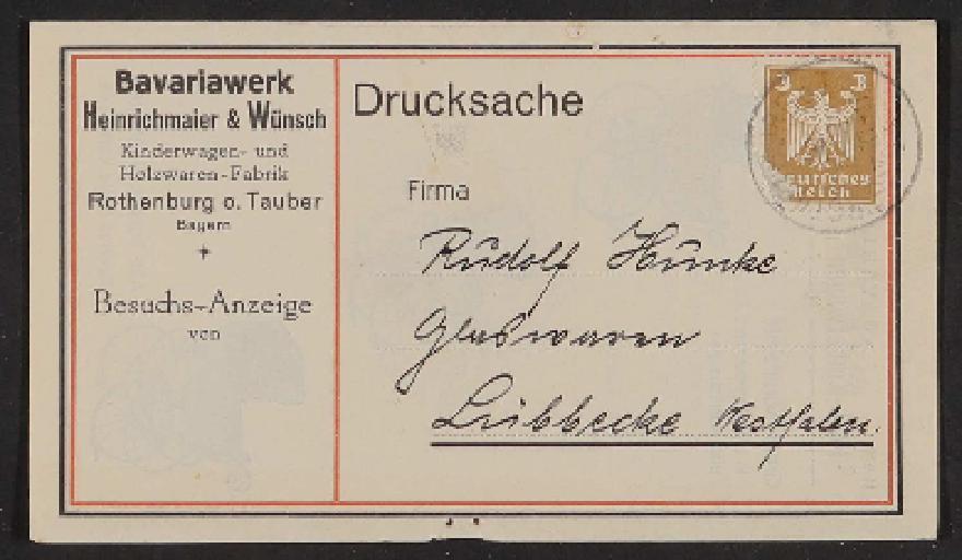 Bavariawerk, Kinder Velocipedes Katalog 1900er Jahre