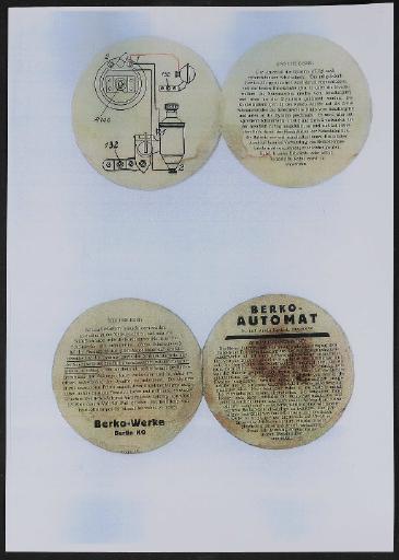 Berko Automat Fahrradlichtanlage Werbeblatt (Kopie) 1930er Jahre