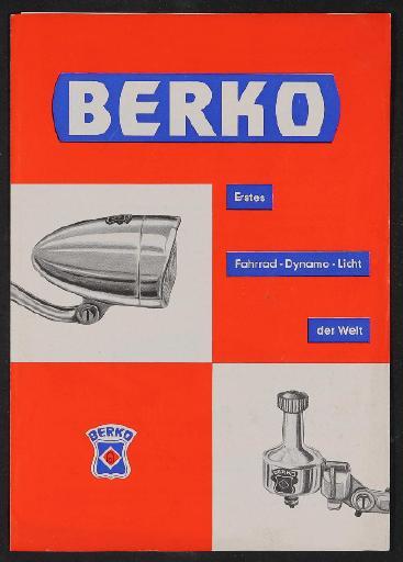 Berko Fahrradlicht Faltblatt 1964