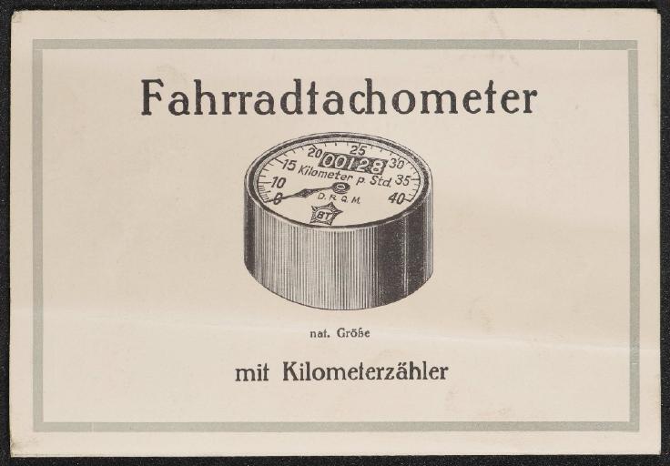 Bernhard Thormann BT Fahrradtachometer Kilometerzähler Faltblatt 1925