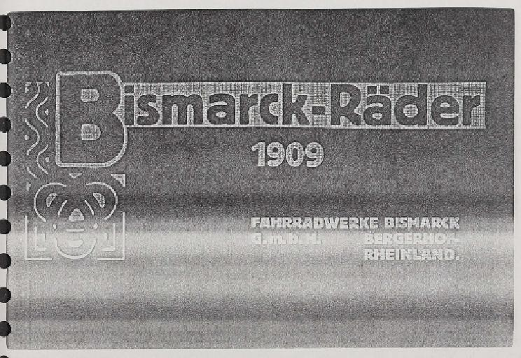 Bismarck-Räder Katalog Kopie 1909