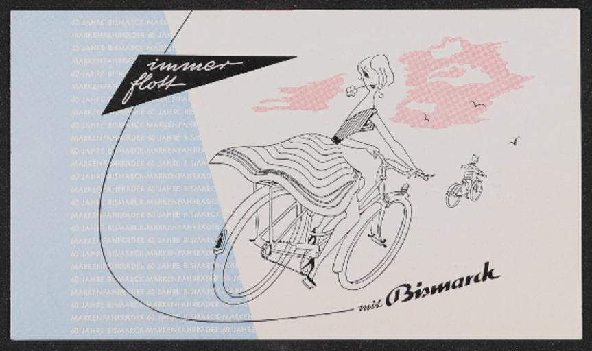 Bismarck-Rad Faltblatt  Ende 1950er Jahre