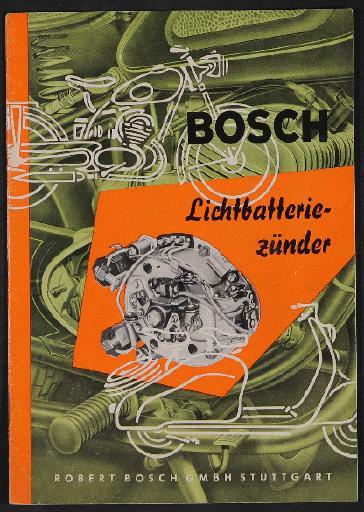Bosch Lichtbatteriezünder Informationsbroschüre 1958