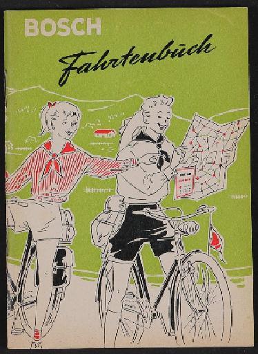 Bosch Radlicht Fahrtenbuch 1950er Jahre