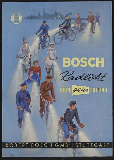 Bosch Radlicht Werbeaufsteller für Händler 1950er Jahre