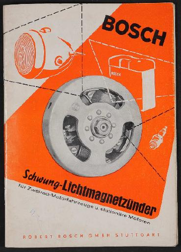Bosch Schwung-Lichtmagnetzünder Informationsschrift 1958