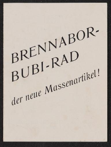 Brennabor Bubirad 1930er Jahre
