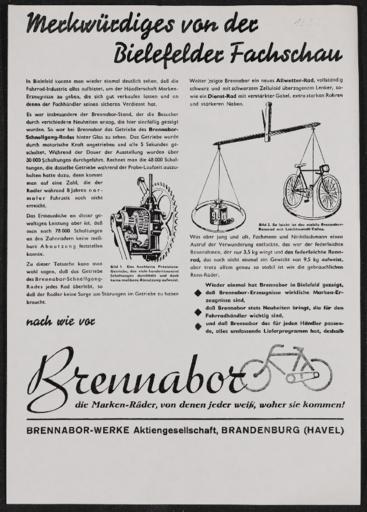 Brennabor Infoblatt 1936
