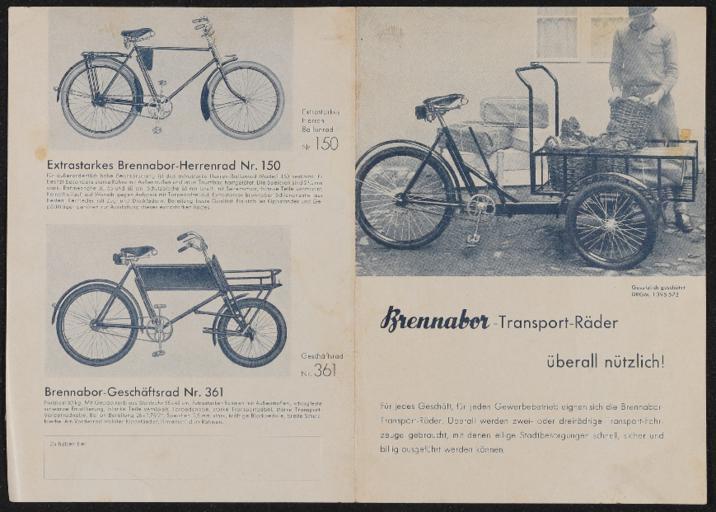 Brennabor Prospekt 1930er Jahre