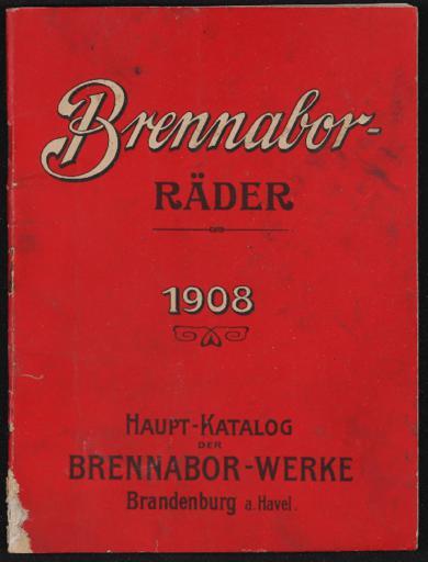 Brennabor Räder Haupt-Katalog 1908