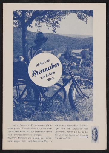 Brennabor Räder von hohem Wert Prospekt 1937
