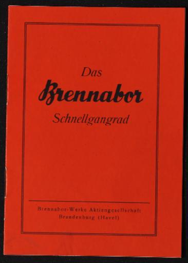 Brennabor Schnellgangrad Betriebsanleitung späte 1930er Jahre