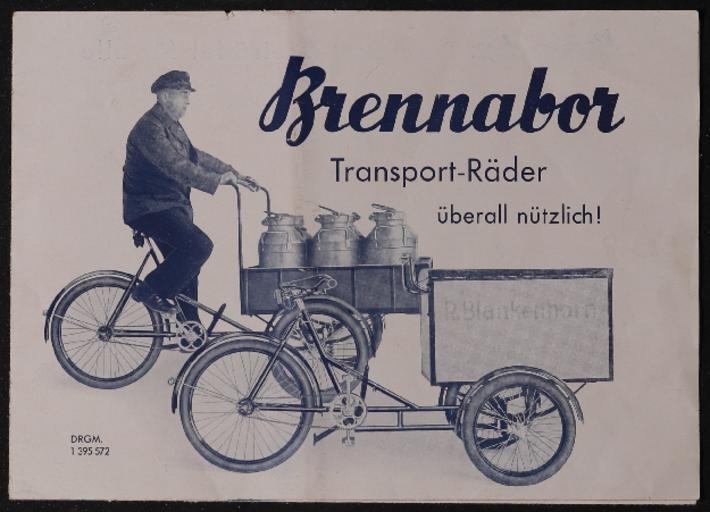 Brennabor Transport-Räder 1930er Jahre
