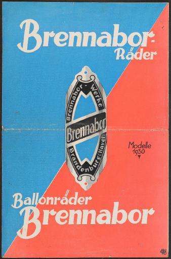 Brennabor, Faltblatt 1930