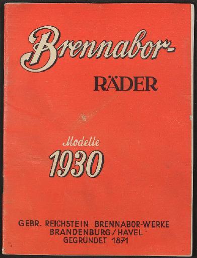 Brennabor, Katalog 1930