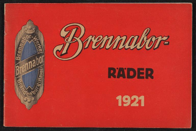 Brennabor-Räder Gebr. Reichstein Katalog 1921