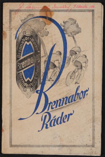 Brennabor-Räder Gebr. Reichstein Katalog nach ca. 1926