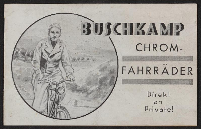 Buschkamp Chrom-Fahrräder Katalog 1937