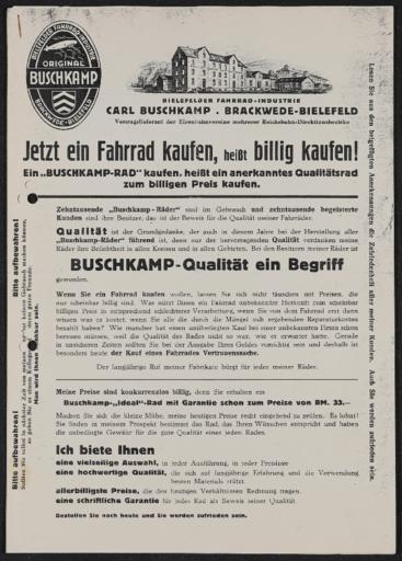Buschkamp Katalog Kopie 1930er Jahre