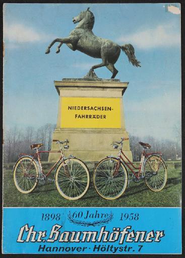 Niedersachsen-Fahrräder Katalog 1958