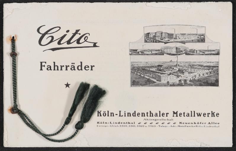 Cito Fahrräder Katalog 1920er Jahre (2)