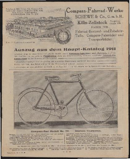 Compass-Fahrrad-Werke Katalog 1911