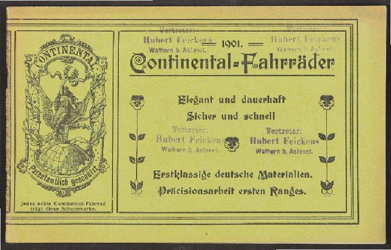 Continental Fahrräder, Katalog 1901
