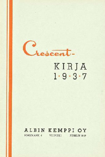 Crescent kirja 1937