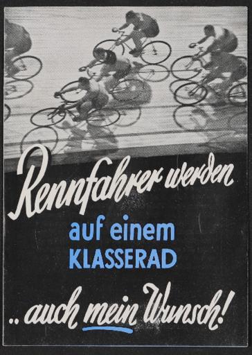 Dürkopp  Bahnmaschine und Straßenrennmaschinen Faltblatt 1930er Jahre