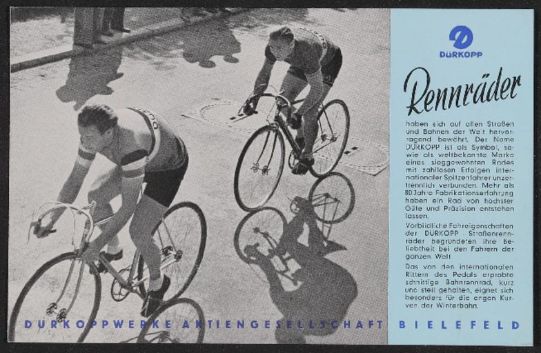 Dürkopp  Rennräder Prospekt 1940er Jahre