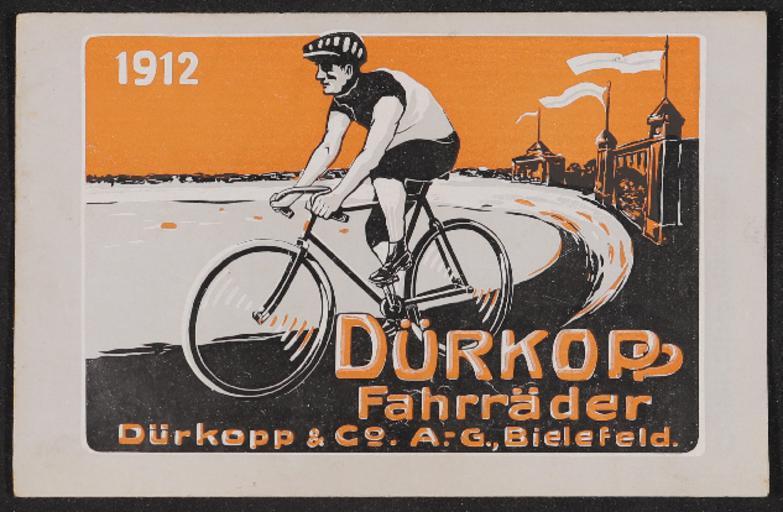 Dürkopp Fahrräder Faltblatt 1912