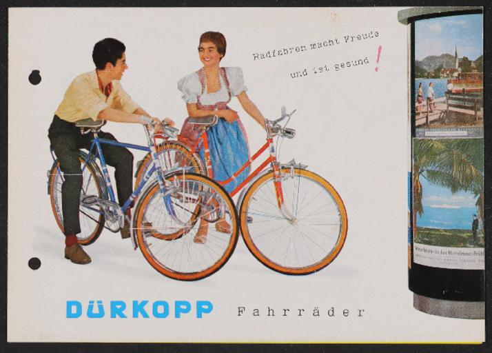 Dürkopp Fahrräder Werbeblatt 1950er Jahre