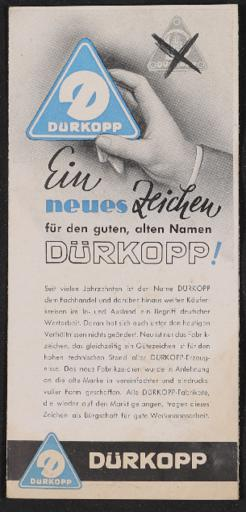 Dürkopp Faltblatt 1947