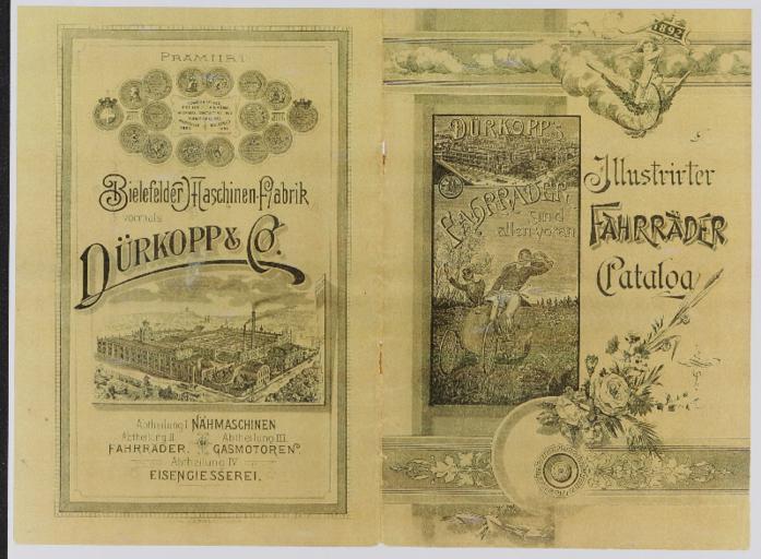 Dürkopp Illustrirter Fahrräder Catalog Kopie 1892