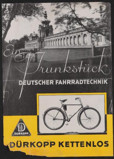 Dürkopp Kettenlos Werbeblatt 1930er Jahre