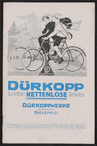 Dürkopp Leichte Kettenlose Fahrräder Katalog 1925